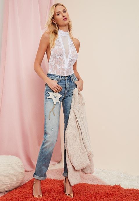 GRLFRND x REVOLVE Helena High-Rise Straight Crop Jean in Iggy