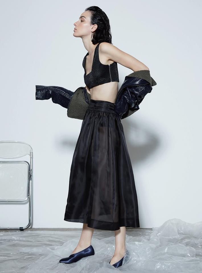 Ganni Seneca Silk Skirt