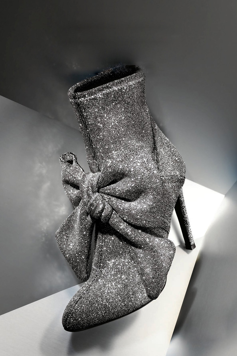Giuseppe Zanotti Natalie Stretch-Fabric Bow Boot
