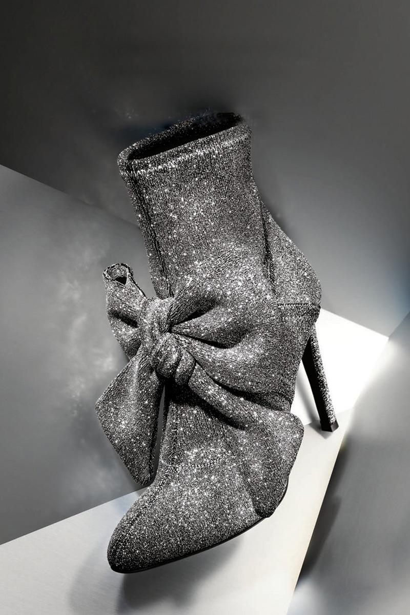 Giuseppe Zanotti Natalie Stretch-Fabric Bow Boot
