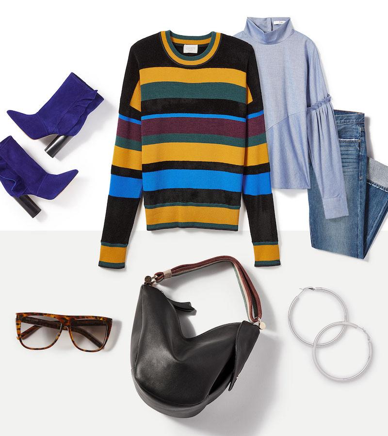 Grey Jason Wu Striped Sweater