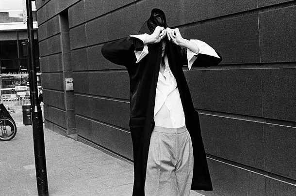 Haider Ackermann Byron Oversized Stand-Collar Cotton Shirt