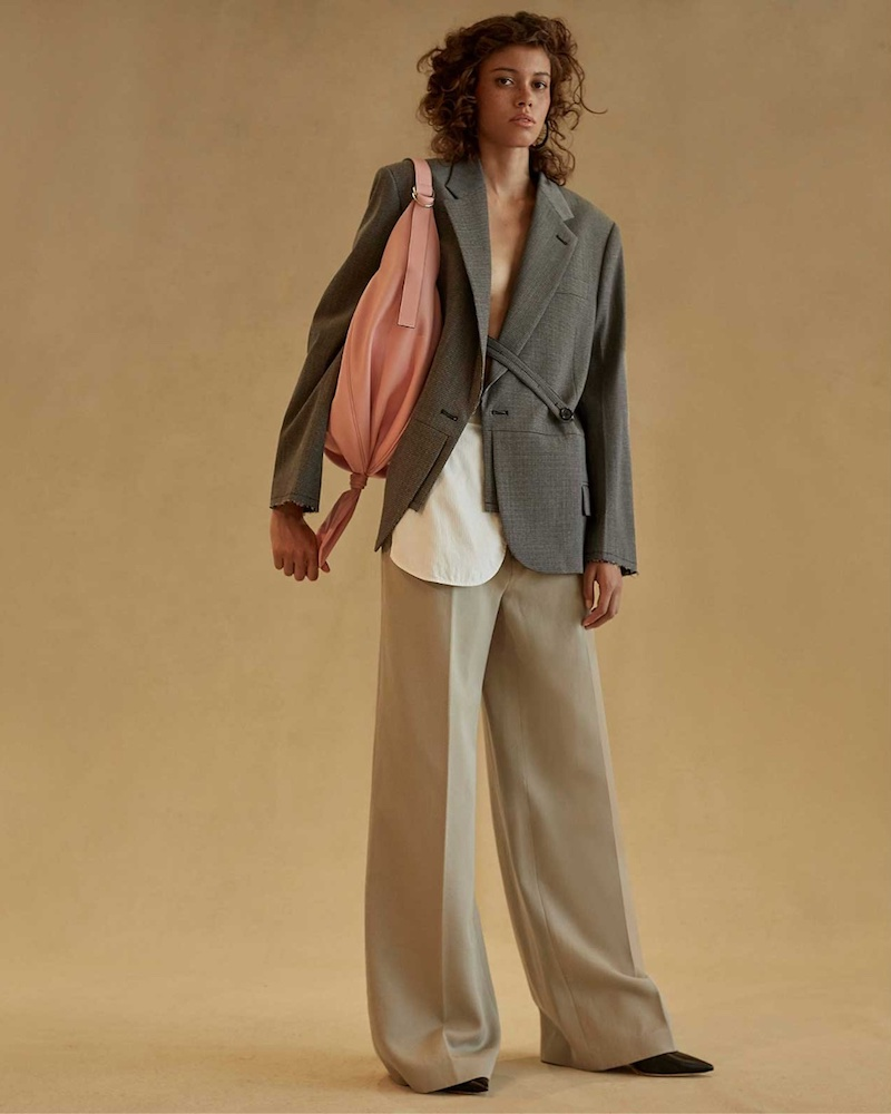 Helmut Lang Deconstructed Hound's-Tooth Stretch-Wool Blazer