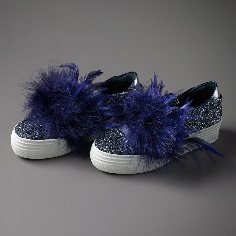 Here / Now Mia Feather Slip-On Sneaker