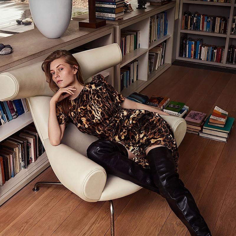 Isabel Marant Ulia Leopard-Print Velvet Dress
