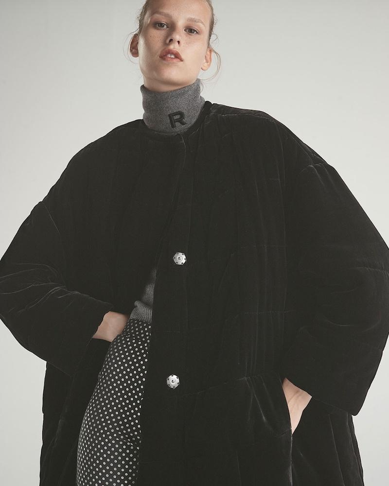 Isabel Marant Velvet Padded Coat