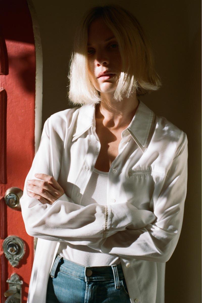 J Brand Blake Oversized Silk Shirt