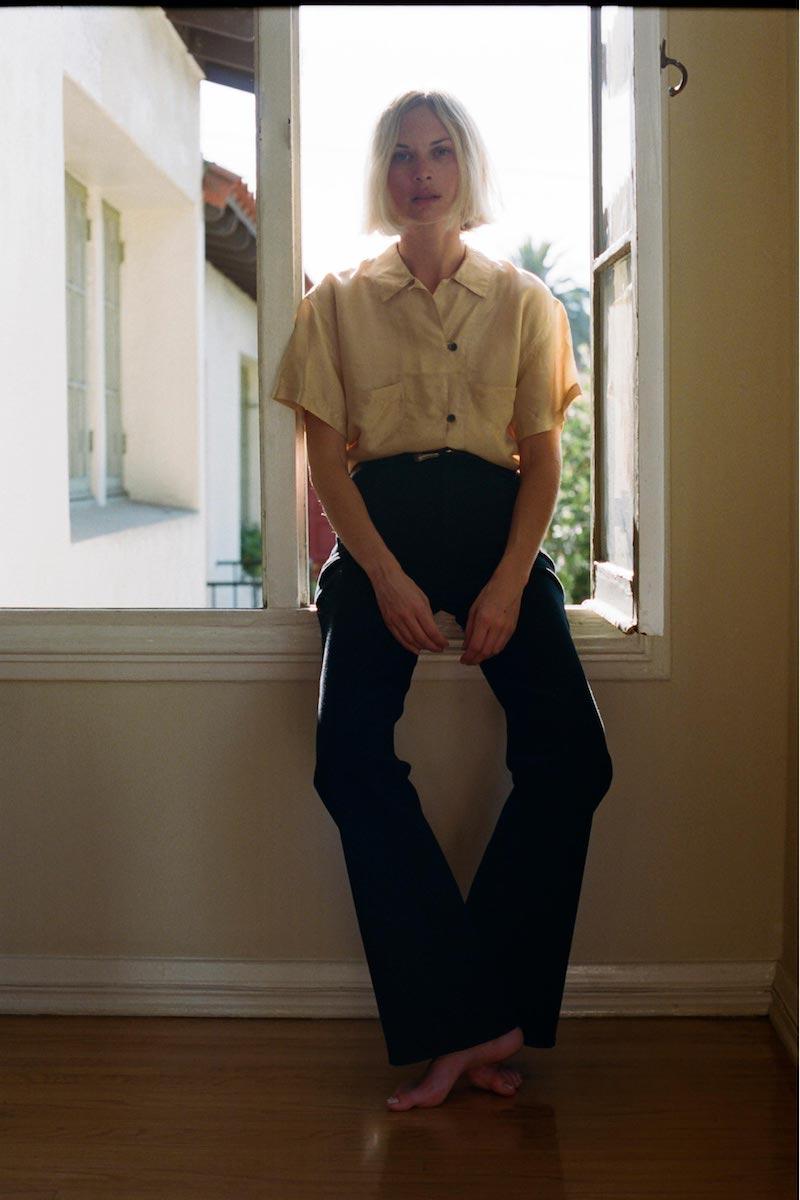 J Brand Joan High-Rise Straight Wide-Leg in Pitch Black