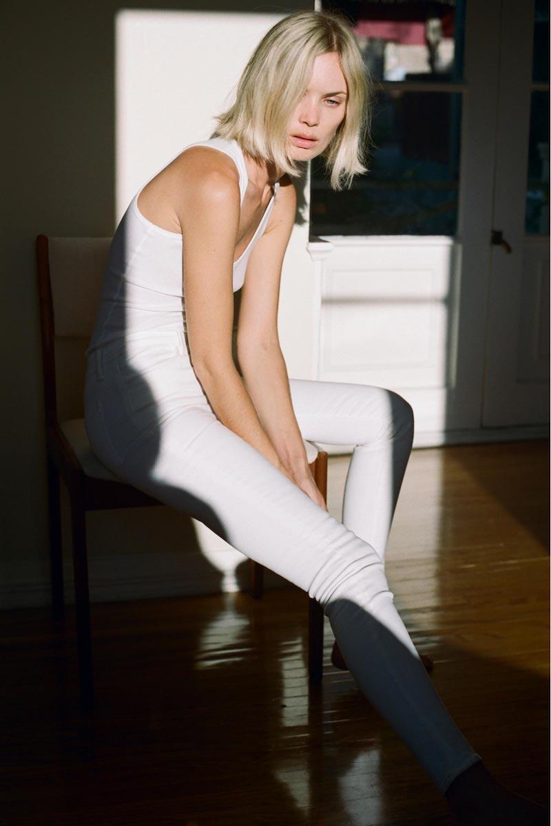 J Brand Maria Super Skinny in Blanc