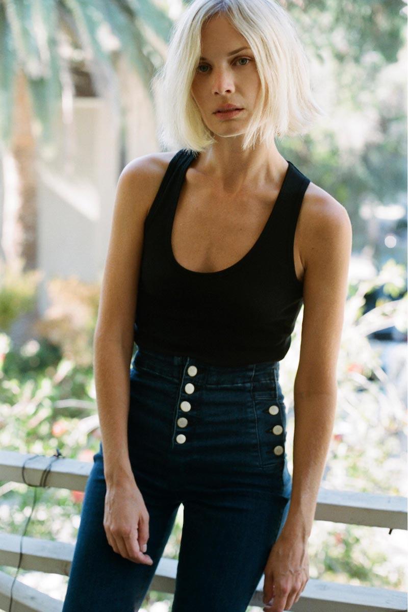 J Brand Natasha Sky High Super Skinny in Allegiance