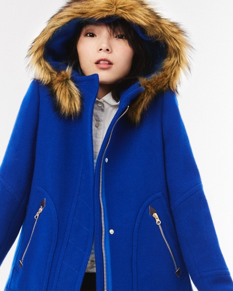 J.Crew Chateau Parka In Blue Italian Stadium-Cloth Wool