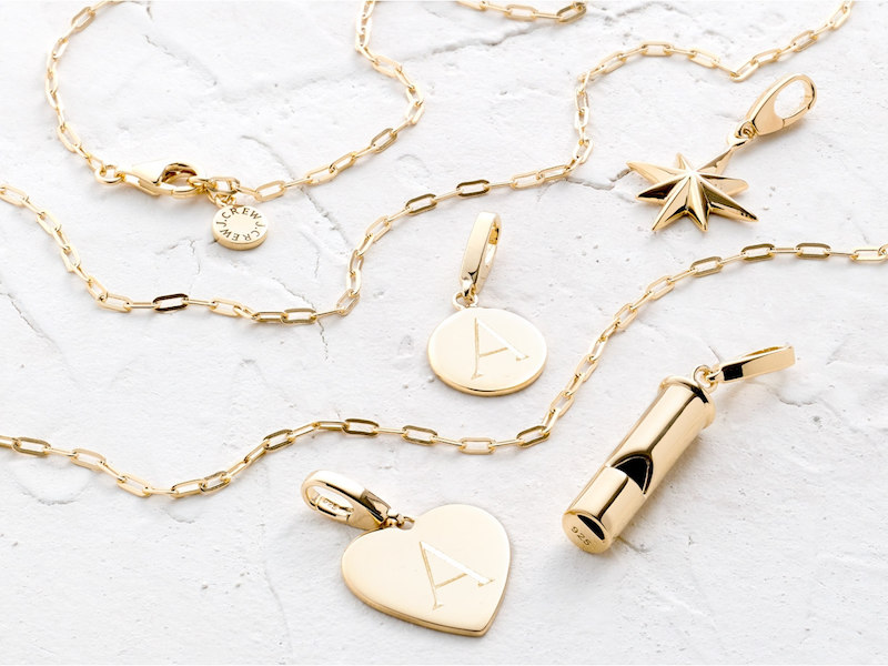 J.Crew Demi-Fine 14k Gold-Plated Heart Charm