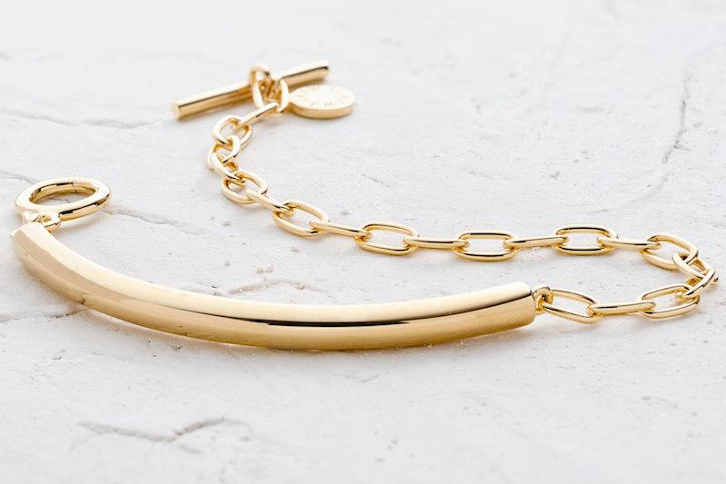 J.Crew Demi-Fine 14k Gold-Plated ID Bracelet