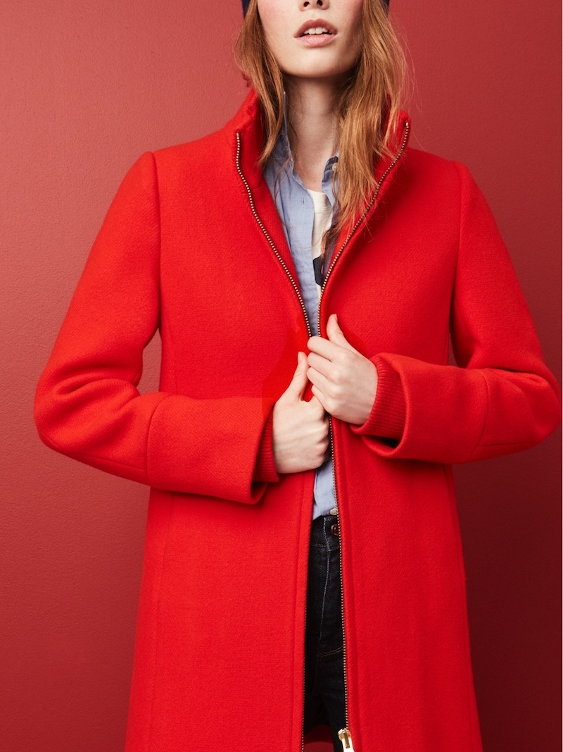J.Crew Lodge Coat In Italian Stadium-Cloth Wool