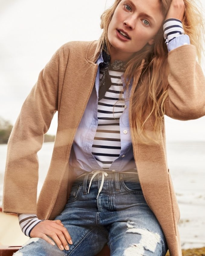 J.Crew Open-Front Sweater-Blazer