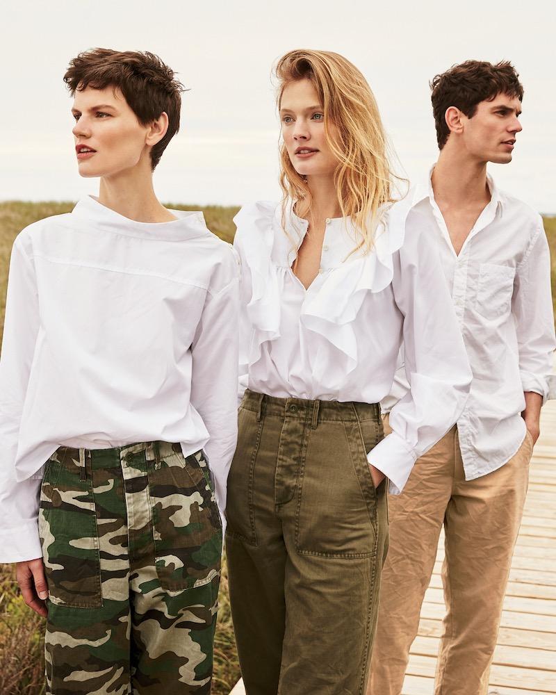 J.Crew Ruffle-Front White Shirt