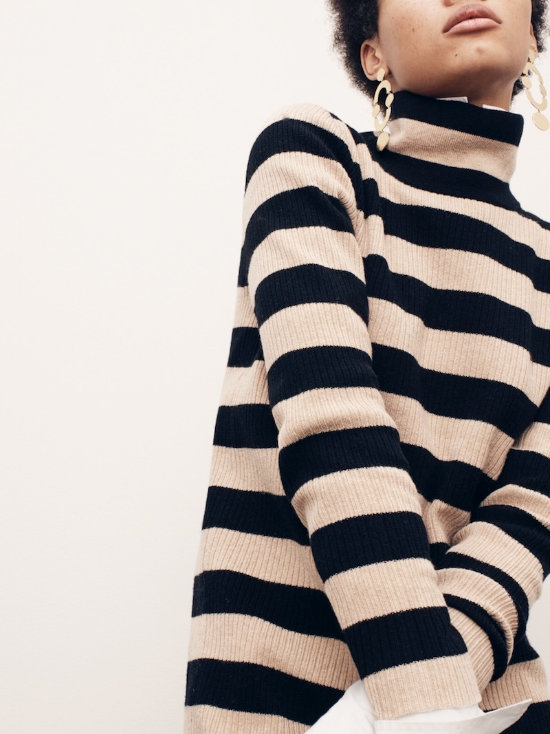 J.Crew Striped Turtleneck Sweater-Dress