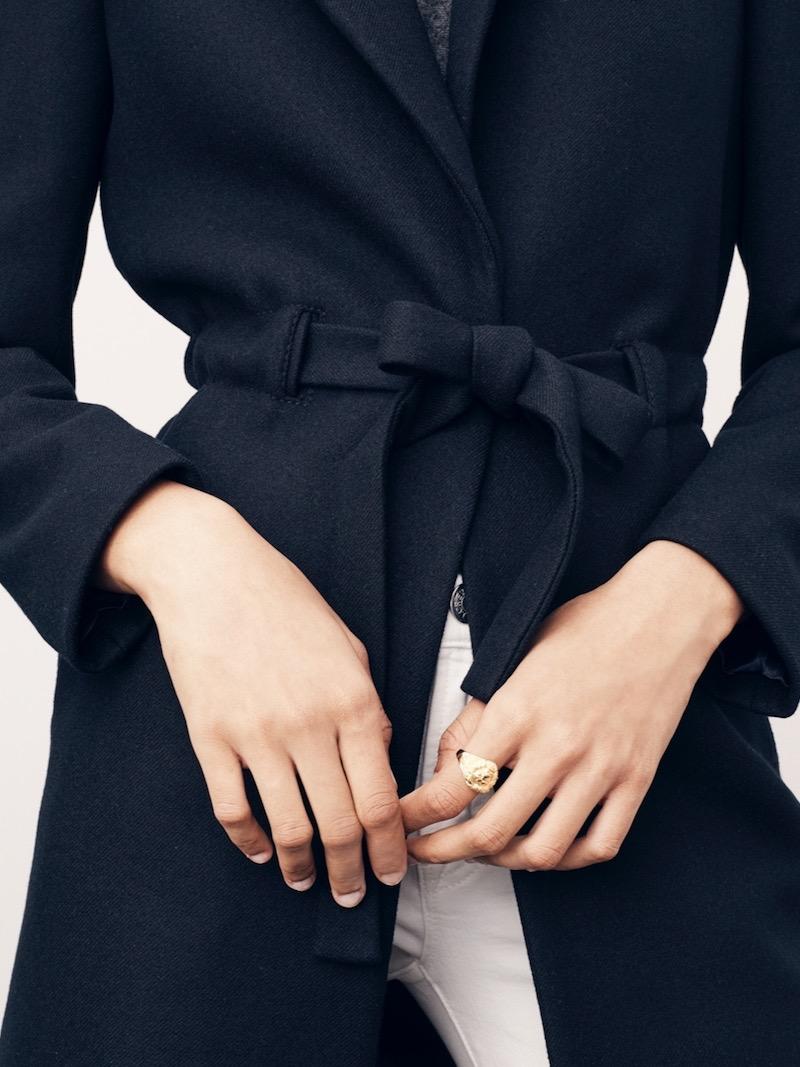 J.Crew Tie-Waist Topcoat In Double-Serge Wool