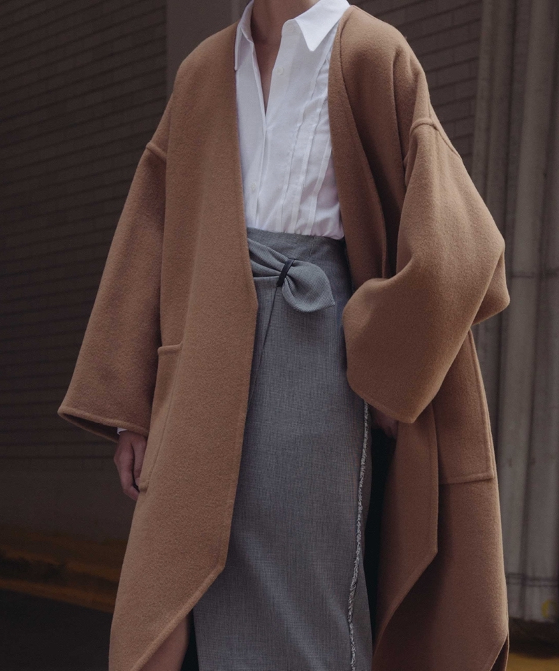 J.W. Anderson Pointed Hem Double Face Coat