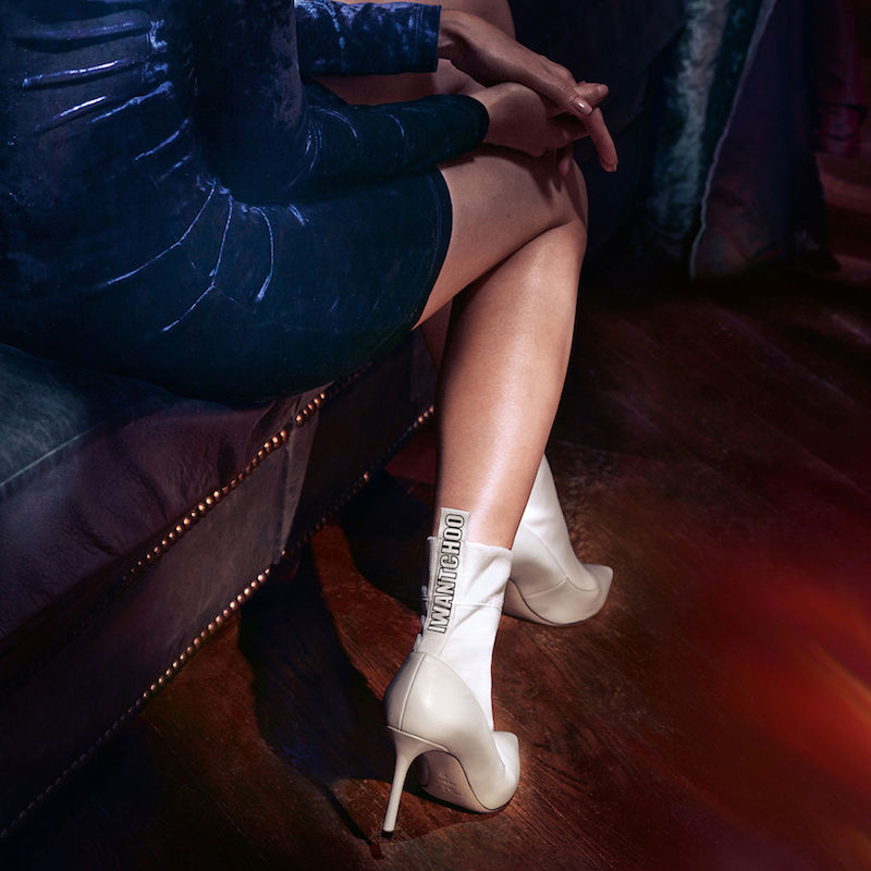 JIMMY CHOO Brandon 100 White Nappa Leather and Stretch Fabric Sock Ankle Boots