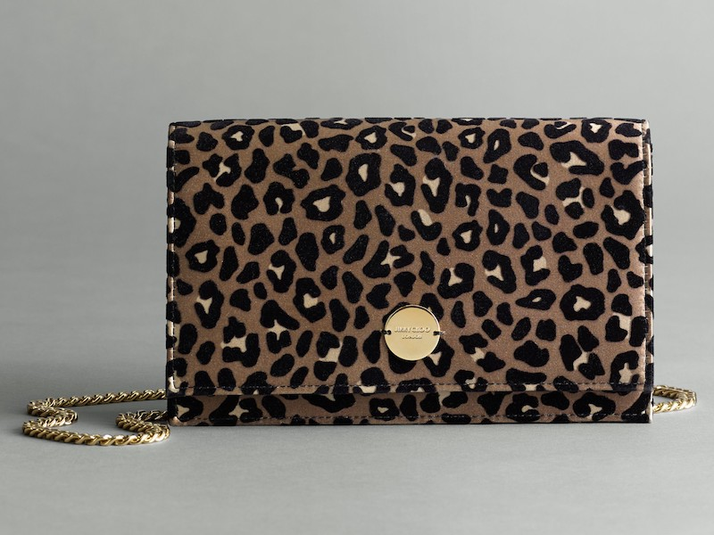 Jimmy Choo Florence Leopard Print Crossbody Bag