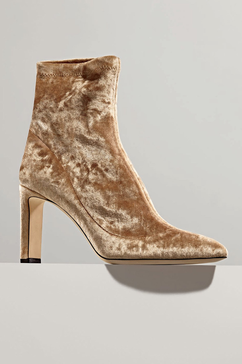 Jimmy Choo Louella Stretch-Velvet 85mm Bootie