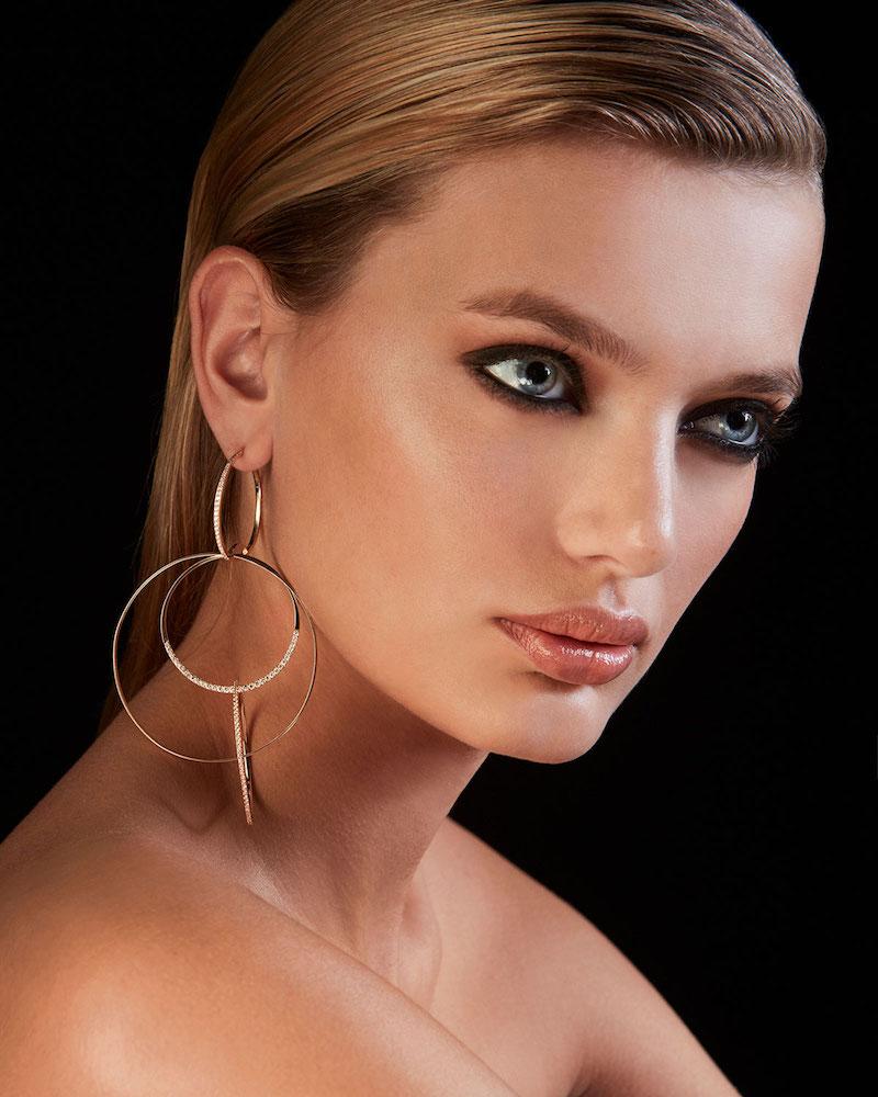 LANA Flawless Large Bond Link Earrings with Diamonds