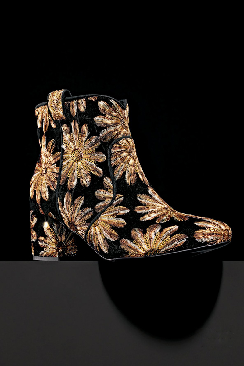 Laurence Dacade Belen Metallic Embroidered Western Bootie