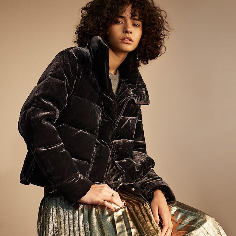 Lewit Velvet Puffer Jacket