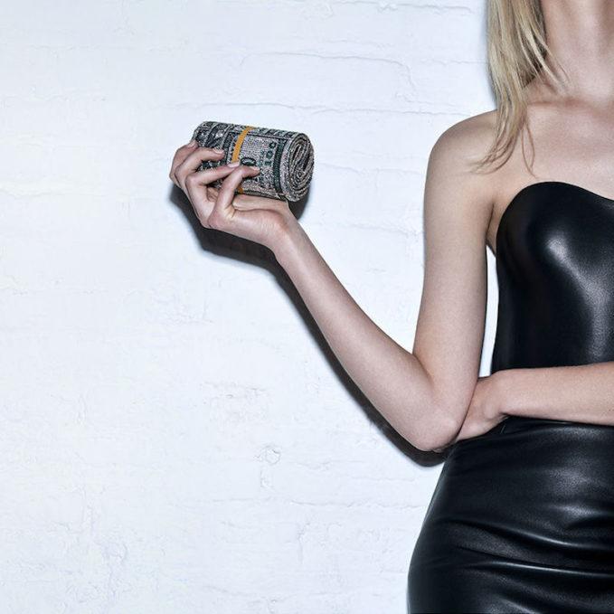 """Limited Edition Judith Leiber x Alexander Wang """"Money Roll"""" Bag"""