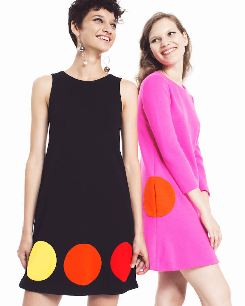 Lisa Perry Dot Wool Shift Dress