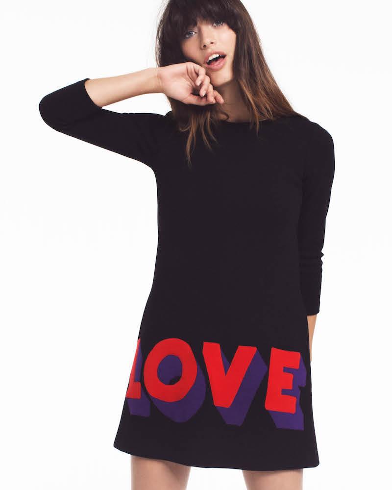 Lisa Perry Love Wool Shift Dress