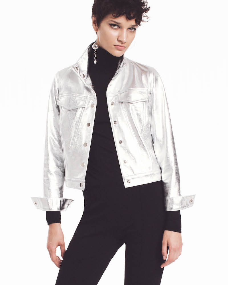 Lisa Perry Snazzy Metallic Leather Jacket
