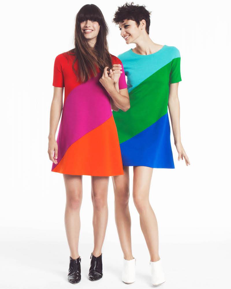 Lisa Perry Swirl Wool A-Line Dress