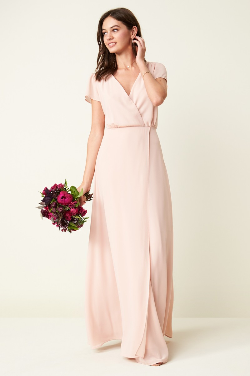 Lulus Lace-Up Back Chiffon Gown