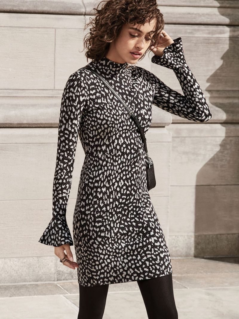 MICHAEL Michael Kors Leopard Jacquard Knit Dress