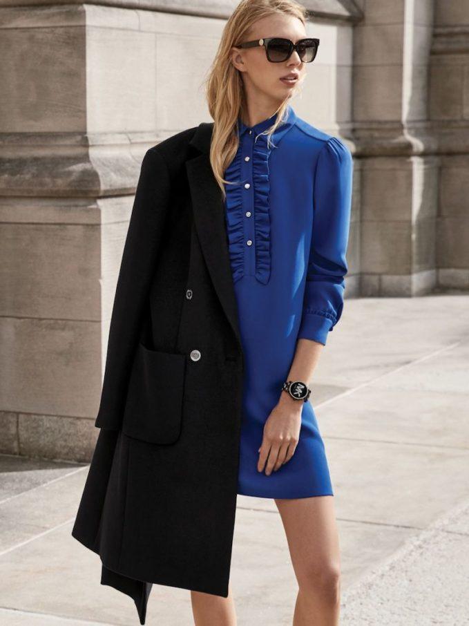 MICHAEL Michael Kors Ruffled Silk-Georgette Shirtdress