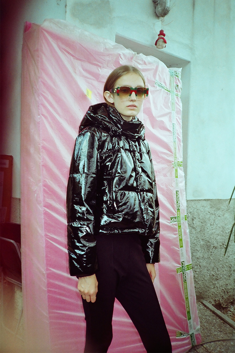 MSGM Quilted Vinyl Puffer Jacket
