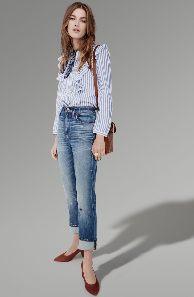 Madewell 11-Inch The High-Rise Slim Boyjean: Painter Edition