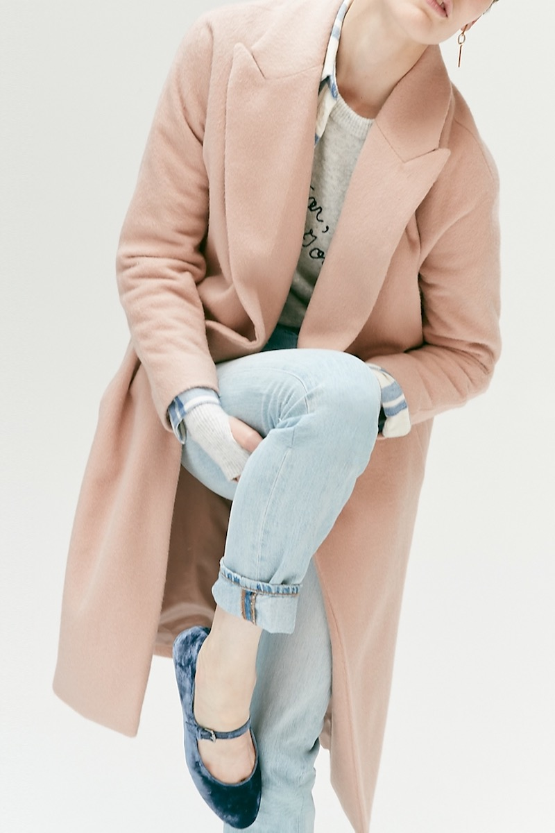 Madewell Atlas Cocoon Coat In Avalon Pink