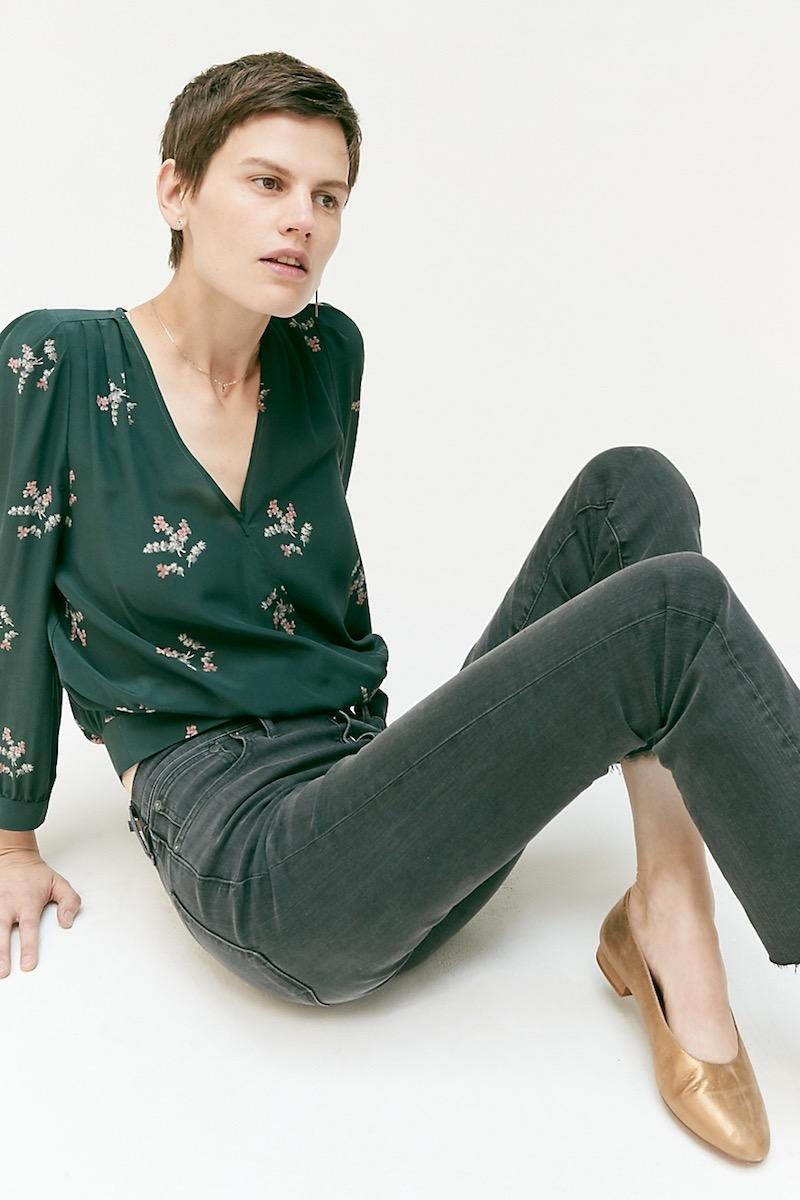 Madewell Cali Demi-Boot Jeans: Asymmetrical Hem Edition
