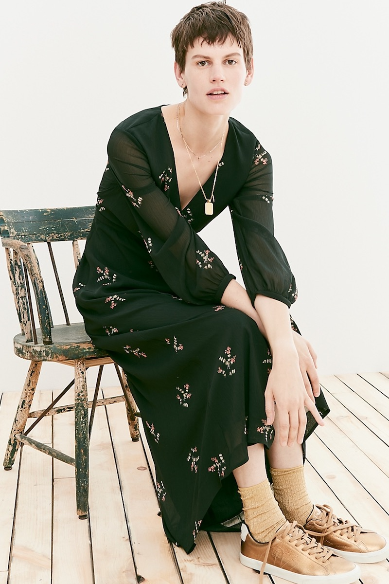 Madewell Nightflower Maxi Dress In Wild Botanic