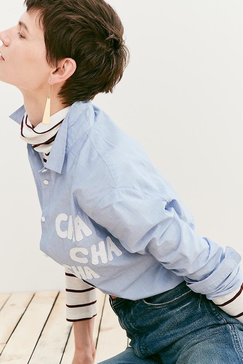 Madewell Oversized Ex-Boyfriend Cha Cha Cha Shirt