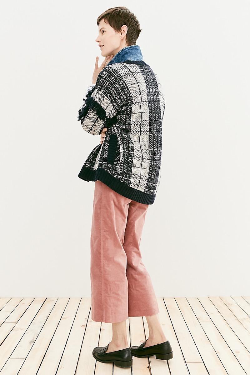 Madewell Plaid Fringe Cardigan Sweater
