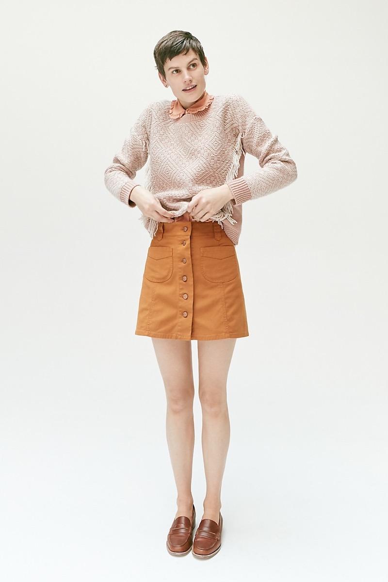 Madewell Reverse-Diamond Pullover Sweater