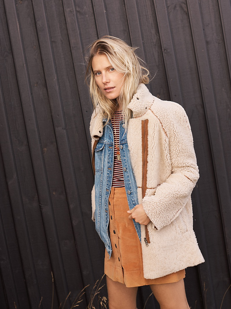 Madewell Reversible Shearling Jacket