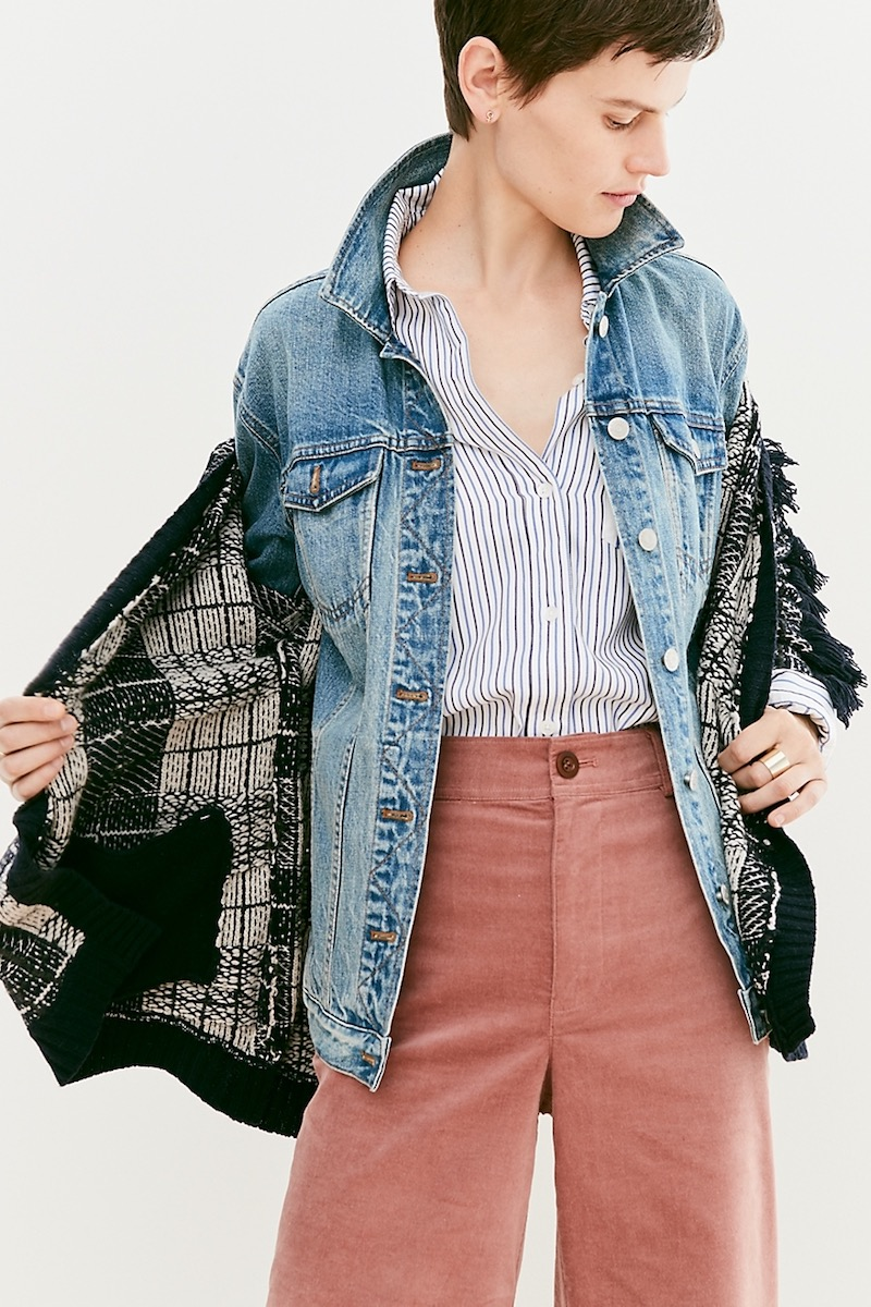 Madewell The Oversized Jean Jacket In Capstone Wash
