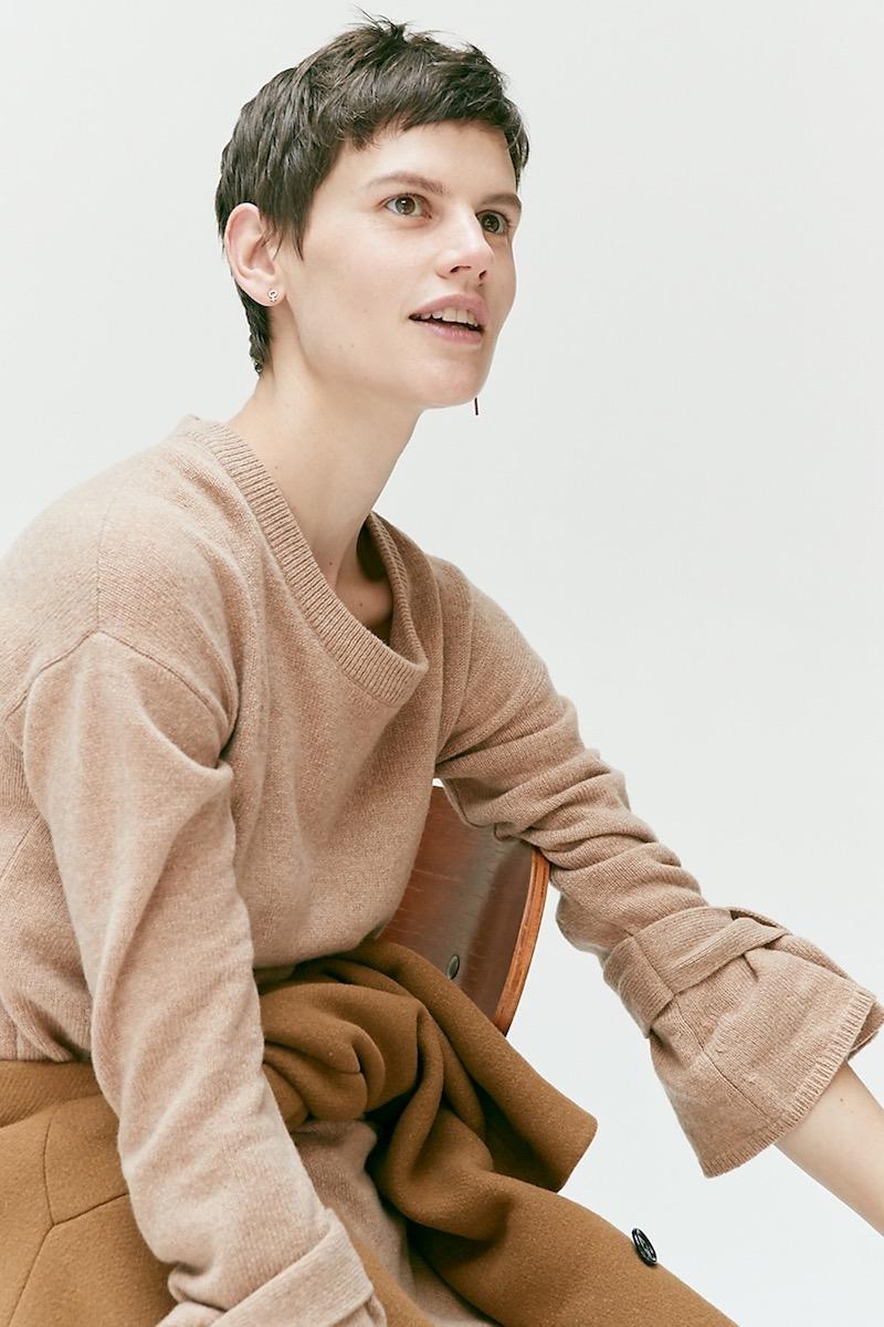 Madewell Tie-Cuff Sweater-Dress