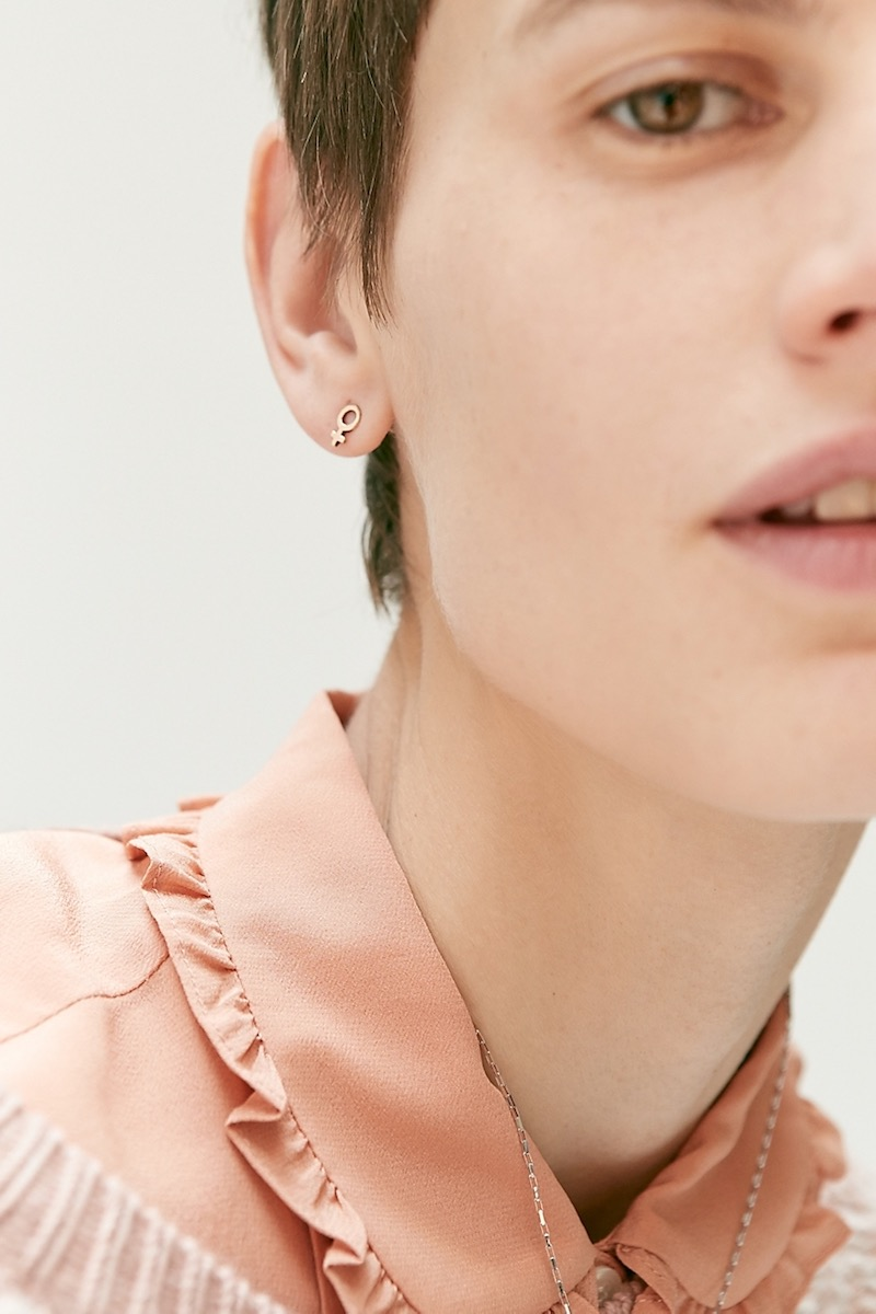 Madewell x Girls Inc. Demi-Fine Bronze Female Earrings