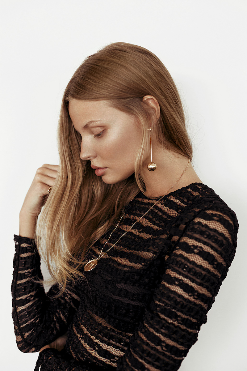 Magdalena Frackowiak Jewelry Drop Earrings, 18kt Gold